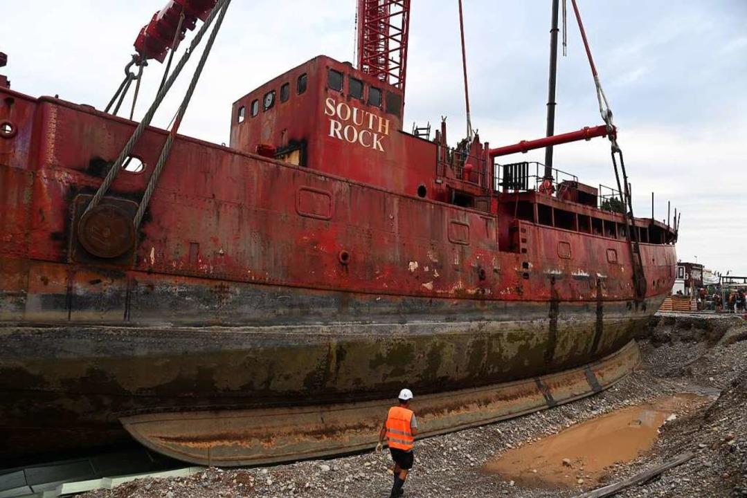 42 Meter lang ist das Schiff.    Foto: Jonas Hirt