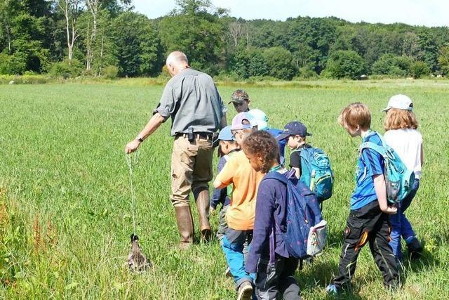 Vörstetter Kinder gehen mit Jägern auf die Pirsch