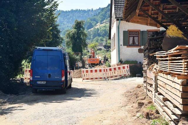 Der Ausbau der Föhrentalstraße in Glottertal schreitet voran