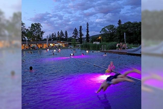 Nachtbaden im Naturbad Riehen