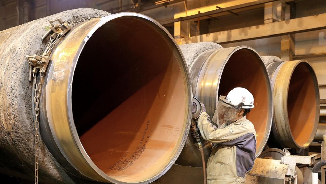 Rohre für Nord Stream 2  | Foto: Bernd Wüstneck