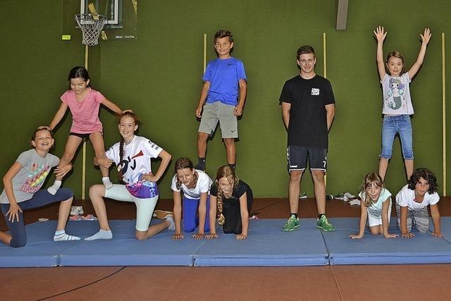 Kinder können Zirkusluft schnuppern