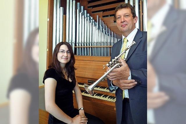 Mit Jean-Jacques Metz (Trompete) und Jeanne Chicaud (Orgel) in Hinterzarten