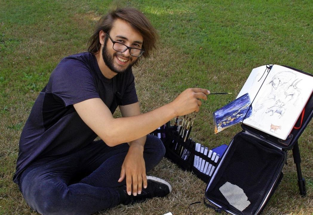 Armani Clarke hat sich sofort in Genge...dwann zu seiner Wahlheimat zu machen.   | Foto: Elisabeth Weidling
