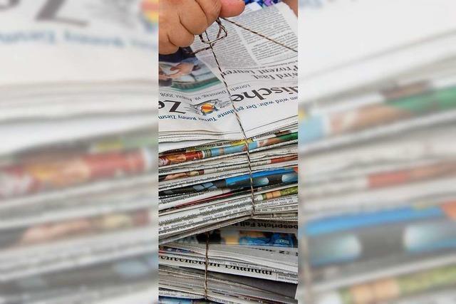 Im Landkreis Lörrach funktioniert die Trennung von Altpapier gut