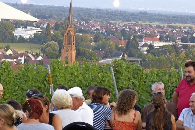 Weinfest in den Reben über Teningen-Köndringen