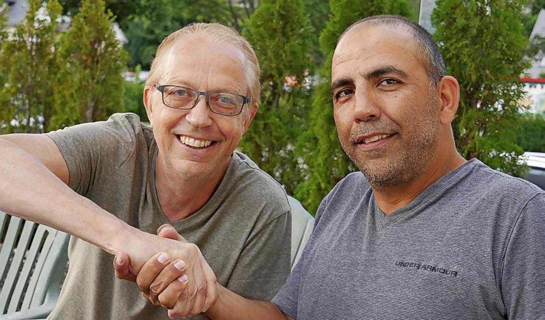 Ein gutes Team: Michael Abeln (links)  und  Simon Cohen  | Foto: Eva Korinth