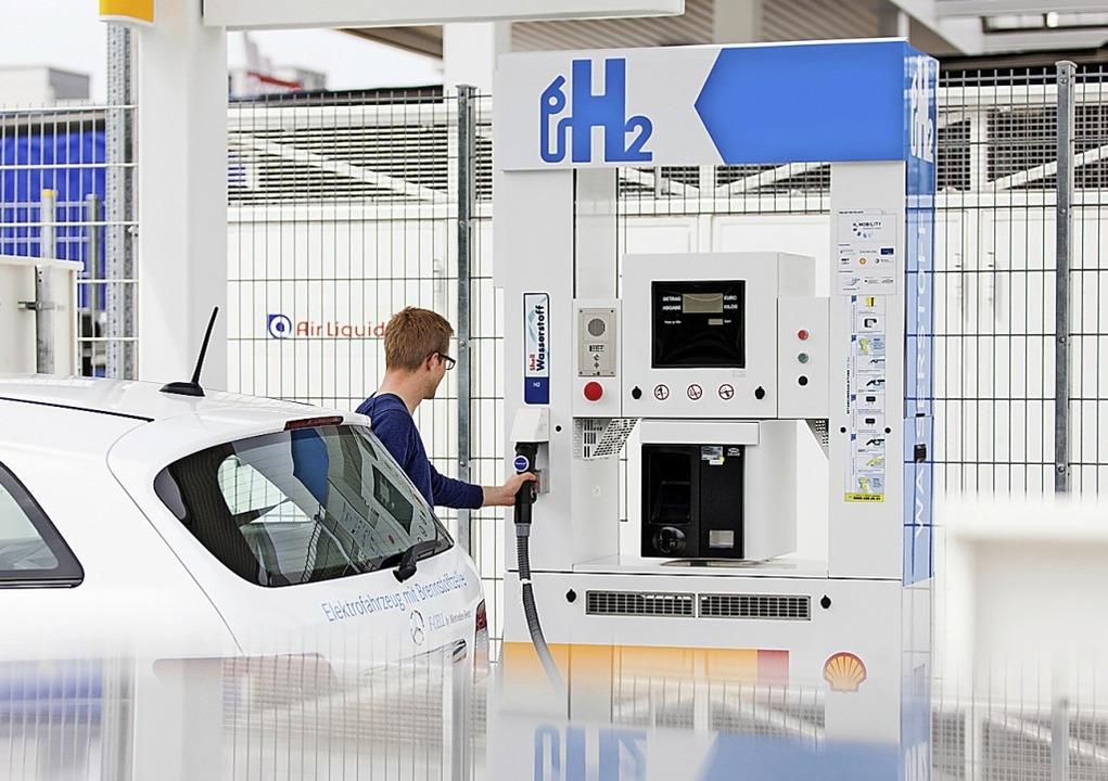 Wasserstoff-Tankstelle von H2 Mobility in Frankfurt  | Foto: H2 Mobility/Krumbholz