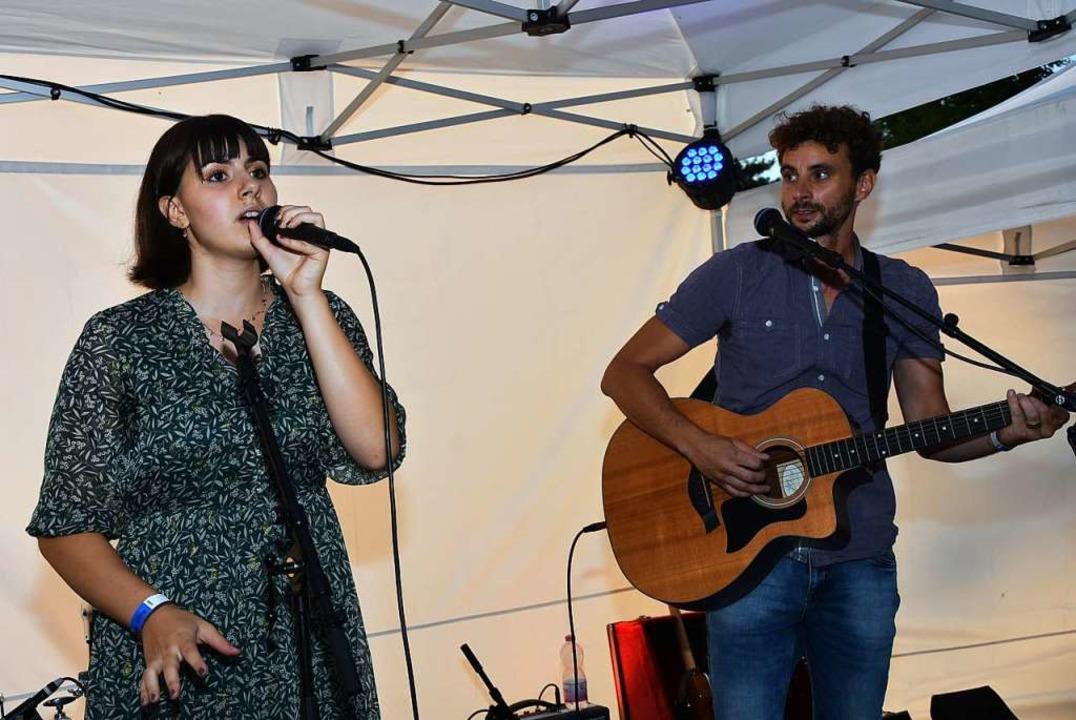 Gina Pellosi und die Band Mora feat. Rothacher  | Foto: Heinz und Monika Vollmar