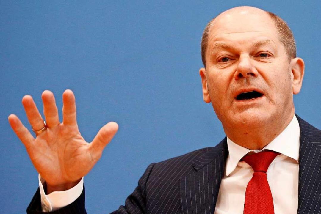 Olaf Scholz, Finanzminister  | Foto: Carsten Koall