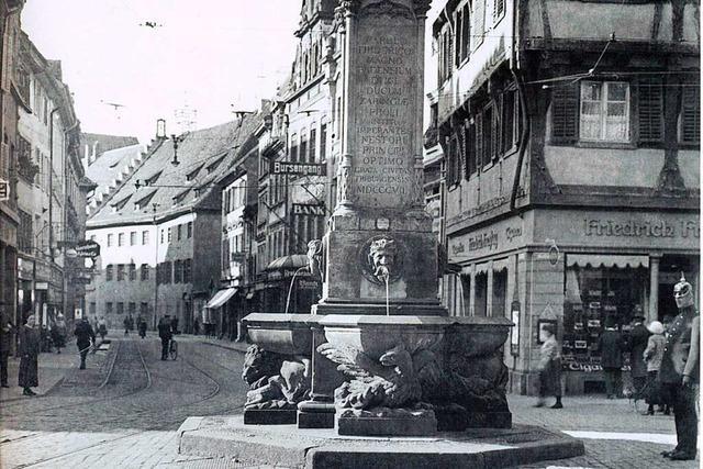 Dieses Gebäude am Bertoldsbrunnen galt als ältestes Haus Freiburgs