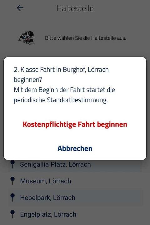 Die App ticket2go wird im Dezember eingestellt.    Foto: Kathrin Ganter