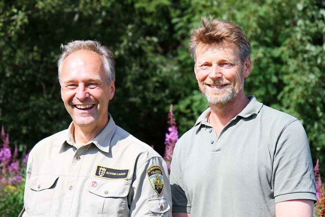 Feldberg-Ranger Achim Laber (links) un...r des Haus der Natur, Hubertus Ulsamer  | Foto: Haus der natur