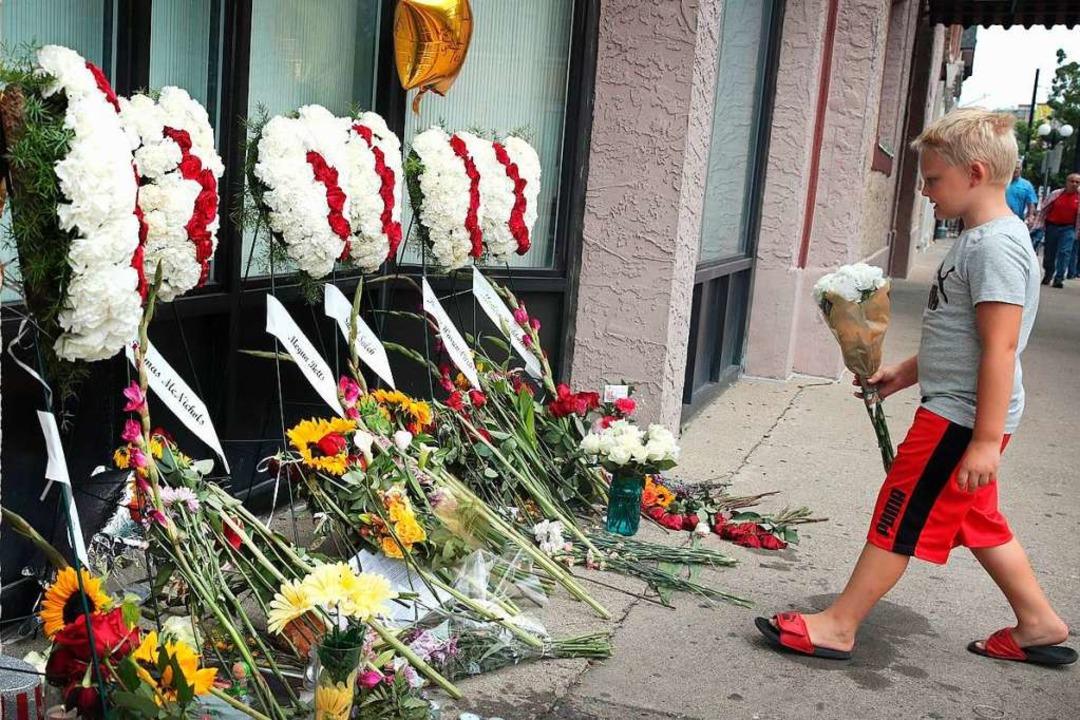 In Dayton, Ohio, hat ein Mann am 4. August neun Menschen getötet.  | Foto: SCOTT OLSON (AFP)