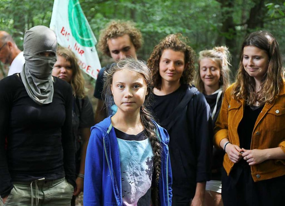Greta Thunberg mit #hambibleibt-Aktivi...ressefoto hatte die Debatte ausgelöst.  | Foto: Oliver Berg (dpa)
