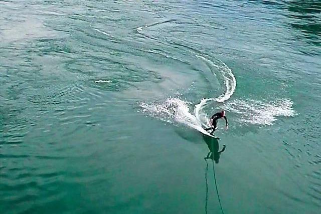 Gegen das Surfverbot auf dem Rhein regt sich Widerstand
