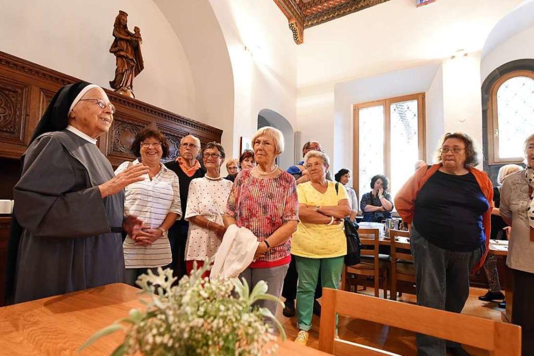 Bei den Benediktinerinnen von St. Liob...inblicke in das Klosterleben bekommen.  | Foto: Rita Eggstein