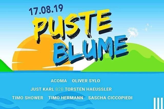 Am Samstag findet das Pusteblume Open Air in Schutterwald bei Offenburg statt