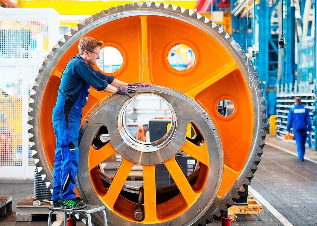 Die wirtschaftliche Schwäche ist der r...achfrage in der Industrie geschuldet.   | Foto: Marijan Murat