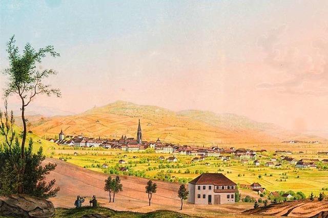 Wer hat ein Bild des Malers Johann Martin Morat Zuhause hängen?