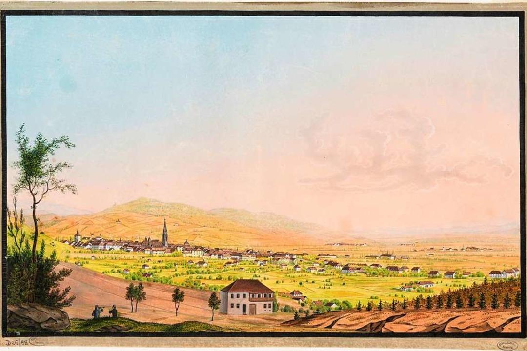 Die Gouache von etwa 1830 ist derzeit in der Graphischen Sammlung zu sehen.  | Foto: privat