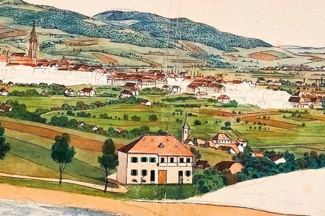 Auf der Skizze, die nach 1841 entstand... der auf dem Bild von 1830 noch fehlt.  | Foto: privat