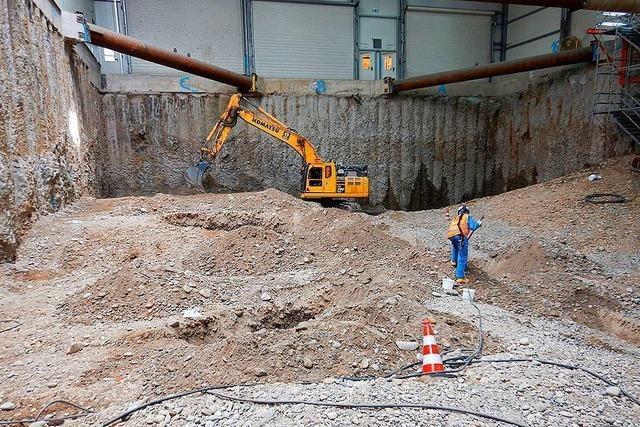 Baufeld Süd der Kesslergrube soll in einem Monat ausgehoben sein