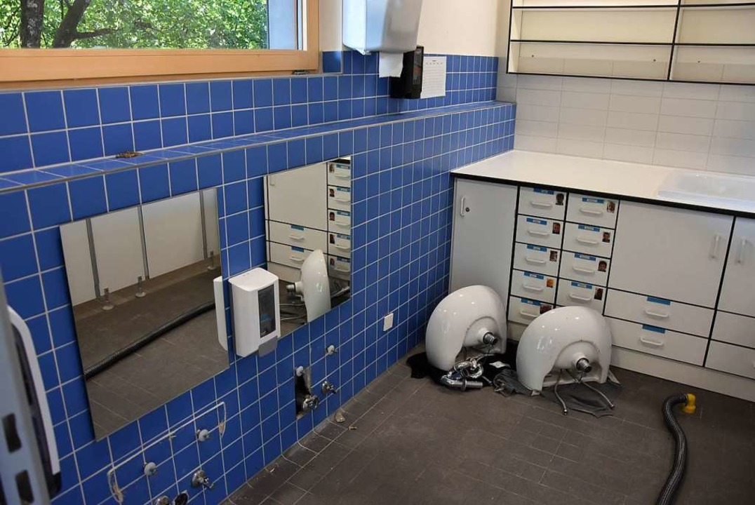 In diesem Sanitärraum entstand der Schaden.  | Foto: Heinz und Monika Vollmar