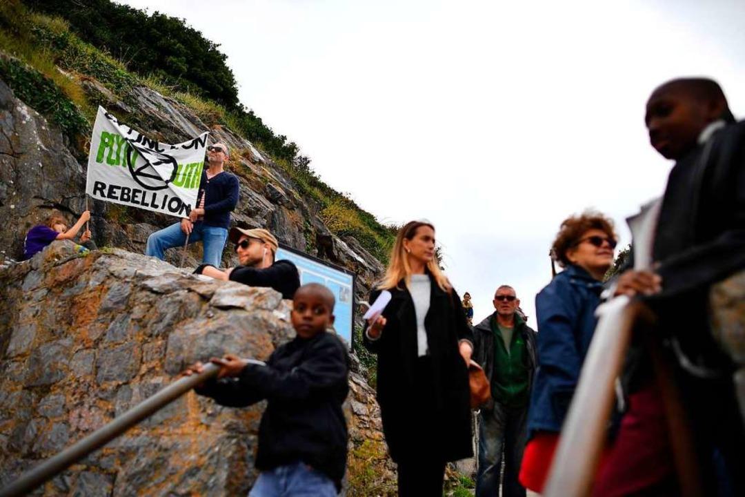 … von Anhängern in Plymouth.  | Foto: BEN STANSALL (AFP)
