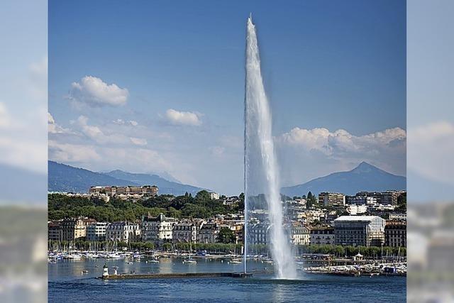 Fluchtpunkt: Genfs Wasserfontäne