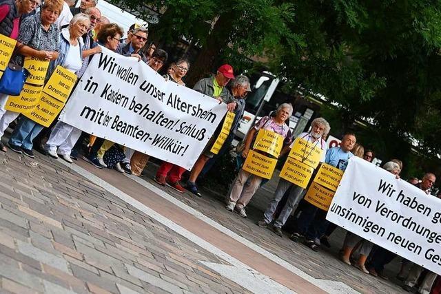 Demo für Erhalt von Pflegeplätzen in Kandern