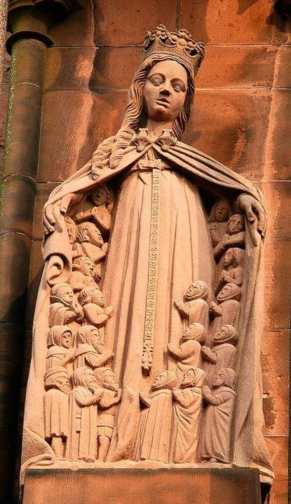 Schutzmantelmadonna am Münster: Symbol...-Tradition in der katholischen Kirche   | Foto: Thomas Kunz