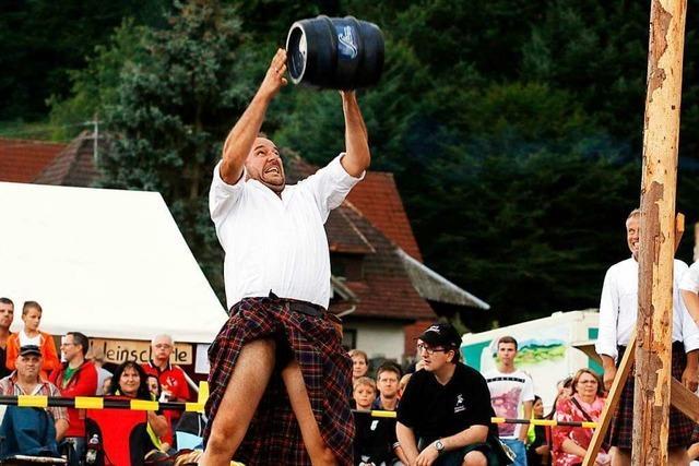 Bei den Highland Games dreht sich alles um Schottenrock, Dudelsack und starke Männer