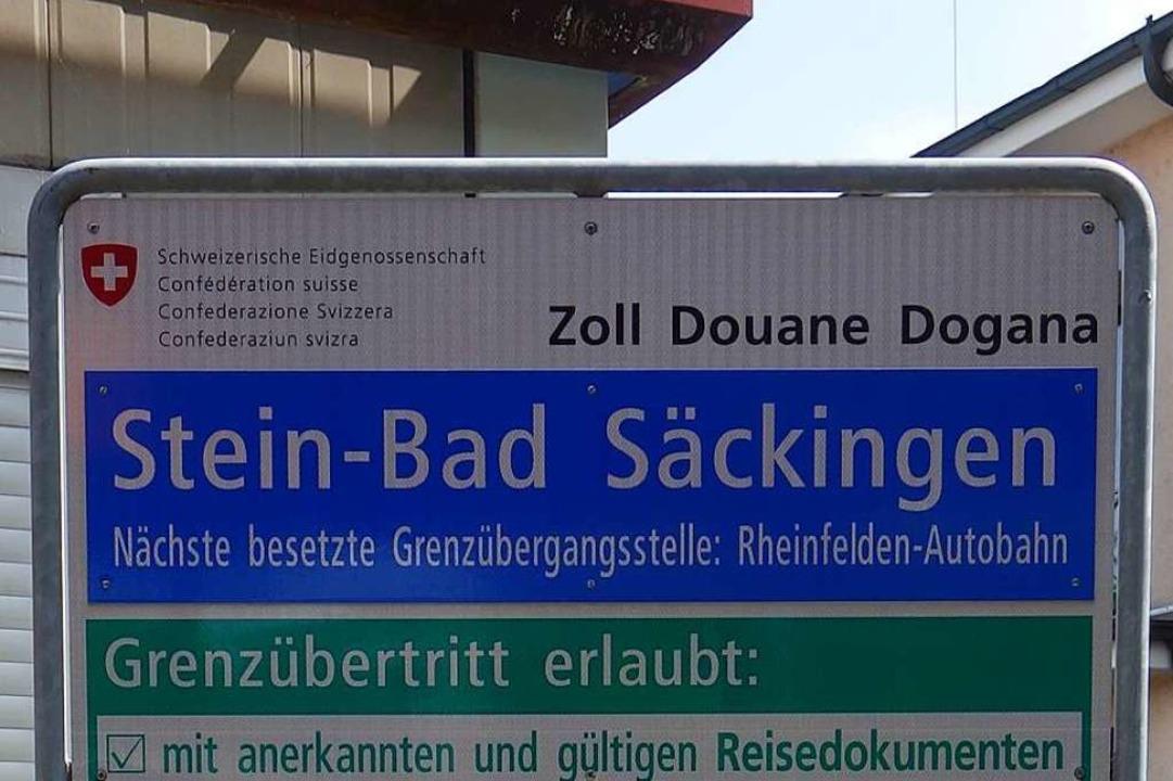 Am Grenzübergang Stein – Bad Säckingen wurde der Mann verhaftet.    Foto: Felix Held