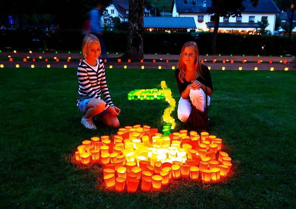 Das traditionelle Lichterfest in Todtm...s eine Lichtershow mit Nebel-Effekten.  | Foto: Tourist-Info