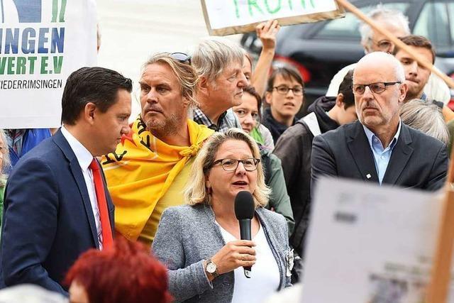 Bundesumweltministerin Svenja Schulze war in Freiburg zu Gast