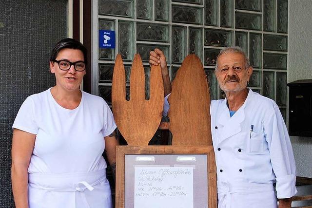 Italienische Küche im Vereinsheim des FV Haltingen