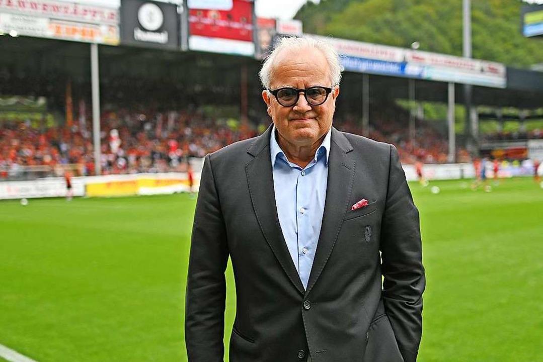 Fritz Keller vor dem SC-Spiel gegen Mainz.  | Foto: Patrick Seeger (dpa)