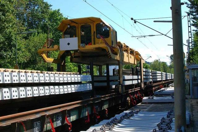 Wie werden Eisenbahnschienen neu verlegt?