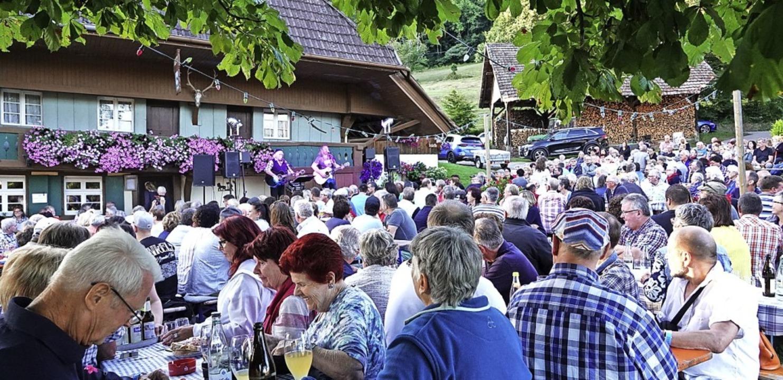 Ausverkauftes Hausbeim Auftritt der &#...hillighofer Musik- und Theatersommers.  | Foto: Hans Jürgen Hege