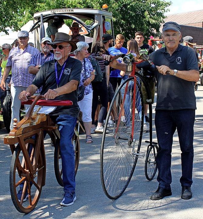 Die Draisine und das Hochrad zählten zu den ältesten Exponaten.    Foto: Reinhard Cremer