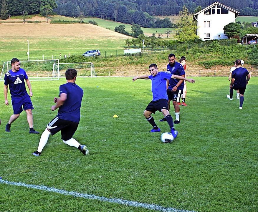 Training der 1. Herrenmannschaft des S...im Vereinsstadion am Schönwasenerhof.   | Foto: Karin Heiß