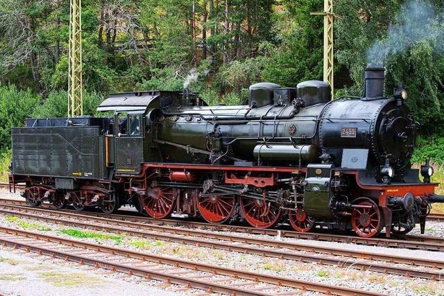 Fotos: Dampfloks und Oldtimer beim Bahnhofsfest in Seebrugg
