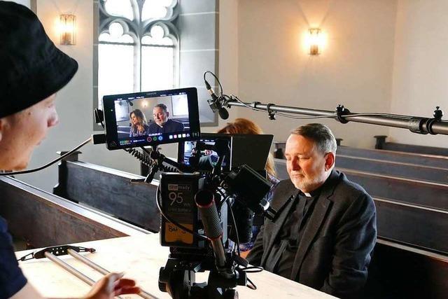 So liefen die Dreharbeiten zum Kurzfilm in der Brombacher Kirche