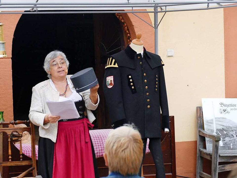 Claudia Kälble referierte über die Geschichte des Bergbaus in der Region.  | Foto: Frank Leonhardt