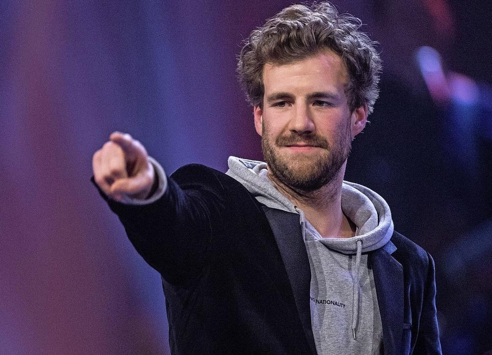 Luke Mockridge bei der Verleihung der Grimme-Preise im April 2019  | Foto: Guido Kirchner (dpa)