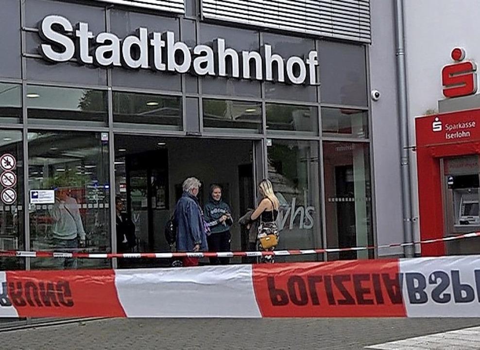 Tatort: Bahnhof Iserlohn  | Foto: Markus Klümper (dpa)