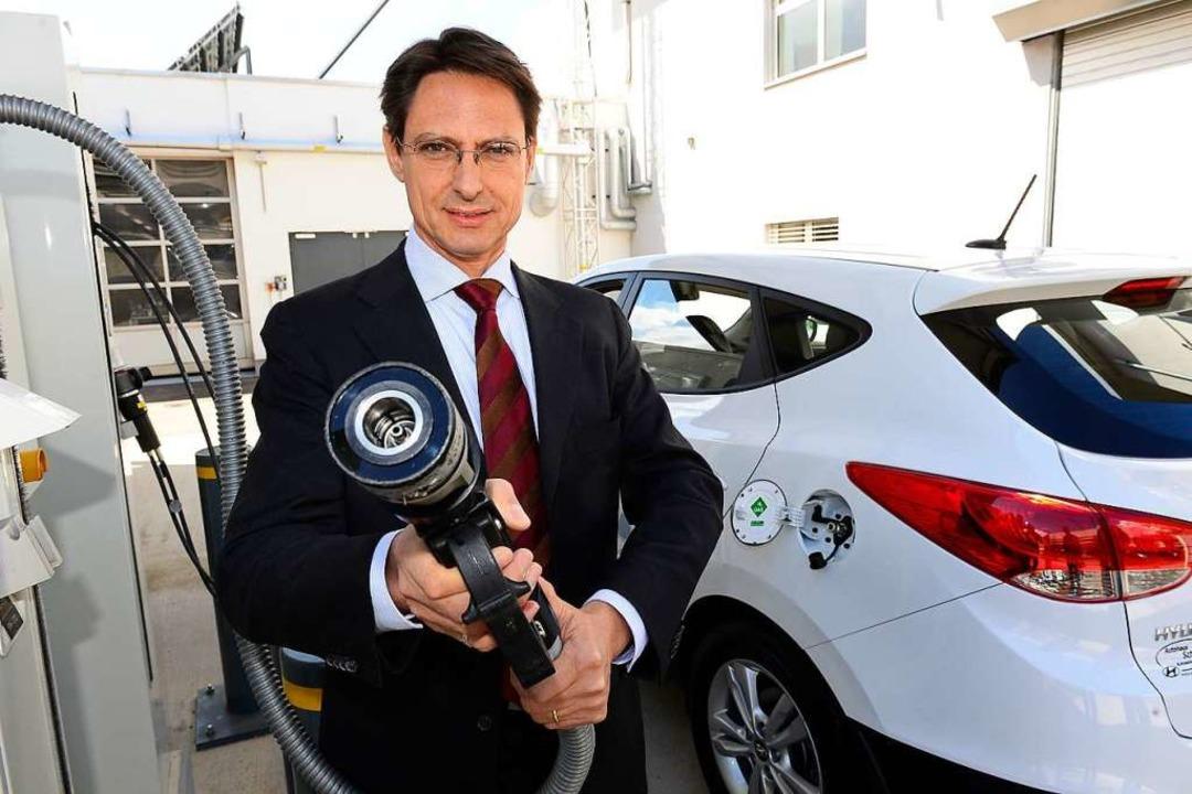 Energiesystemforscher Christopher Hebling, Bereichsleiter Energietechnologien.  | Foto: Ingo Schneider