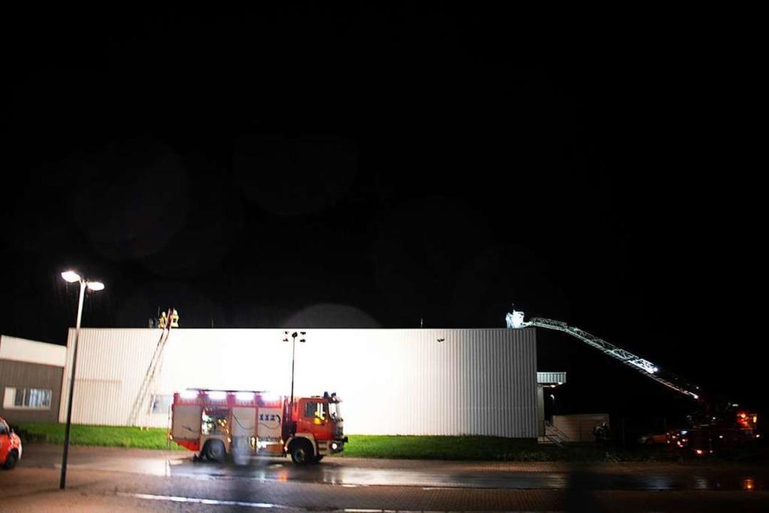 Feuerwehreinsatz im Gewerbegebiet  | Foto: Volker Münch