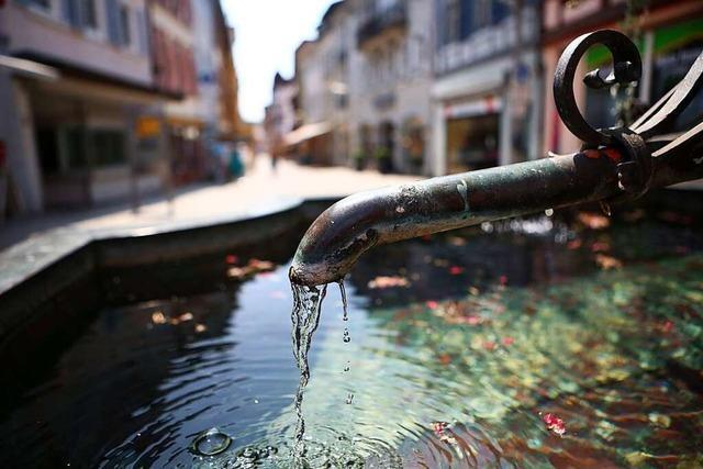 Das Lahrer Wasser in Litern, Cent und Gramm